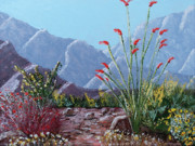 Pallet Knife Painting Originals - Palm Springs Beauty by Jeff Owen