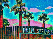 Palmtrees Framed Prints - Palm Springs Gateway Three Framed Print by Randall Weidner