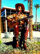 Musicals Prints - Palm Springs Gene Autry Statue Print by Randall Weidner