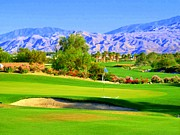 Greens Framed Prints - Palm Springs Golf Framed Print by Randall Weidner