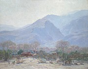 Mountain Valley Paintings - Palm Springs Landscape with Shack by John Frost