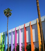 Palm Trees Fronds Prints - Palm Springs Saguaro Hotel 2 Print by Randall Weidner