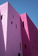Bright Colors Art - Palm Springs Saguaro Hotel Pink by Randall Weidner