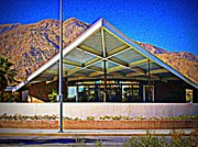 Visitor Prints - Palm Springs Visitor Center Tramway Gas Station Print by Randall Weidner