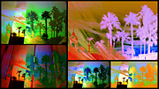 Brazen Prints - Palm tree collage Print by Irma BACKELANT GALLERIES