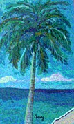 Gretzky Framed Prints - Palm Tree Framed Print by Paintings by Gretzky