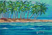 Gretzky Paintings - Palm Tree Island by Paintings by Gretzky