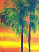Bonnie Wright Metal Prints - Palm Trees Metal Print by Bonnie Wright