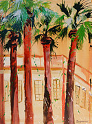 Palm Trees Print by Suzanne Willis