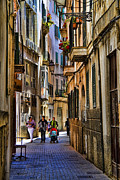Mediterranean Framed Prints - Palma Mallorca street scene Framed Print by David Smith