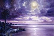 Moon Paintings - Palmetto Moonscape by James Christopher Hill
