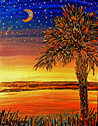 Pldavidson Framed Prints - Palmetto Sunset  Framed Print by Patricia L Davidson