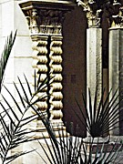 Cloisters Museum Prints - Palms and Columns Print by Sarah Loft