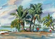 Plein Air Painting Posters - Palms On Sanibel Poster by Donald Maier