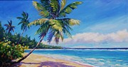 Bay Islands Painting Framed Prints - Palms on Tortola Framed Print by John Clark