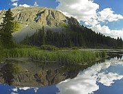 Palmyra Photos - Palmyra Peak Reflected In Alta Lake by Tim Fitzharris