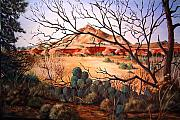 Southwestern Art Painting Originals - Palo Duro Canyon by Cynara Shelton