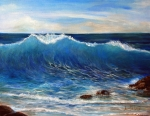 Seascape Drawings Originals - Paloma II by Annette Dion McGowan