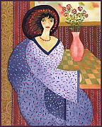 Female Tapestries - Textiles - Paloma by Leslie Marcus