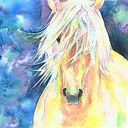 Palomino Prints - Palomino Horse Print by Christy  Freeman
