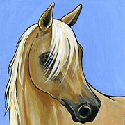Horse Breed Framed Prints - Palomino Framed Print by Leanne Wilkes