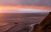Lighthouse At Sunset Prints - Palos Verdes at Sunset Print by Viktor Savchenko