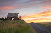 North Idaho Posters - Palouse Barn and Sunset Poster by Idaho Scenic Images Linda Lantzy