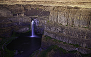 Canyon Pyrography Framed Prints - Palouse Falls Framed Print by Marcus Angeline