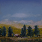 Pastels Pastels Originals - Palouse Farm by David Patterson