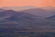 Urban Scene Metal Prints - Palouse Morning From Steptoe Butte Metal Print by Donald E. Hall