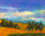 Yellow Pastels Originals - Palouse Wheat Fields by David Patterson
