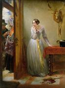 Love Letter Framed Prints - Palpitation Framed Print by Charles West Cope