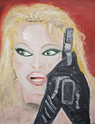Citizen Painting Framed Prints - Pamela Anderson Framed Print by Travianno