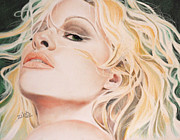 Movie Star Drawings Originals - Pamela Anderson by Zilah Kane