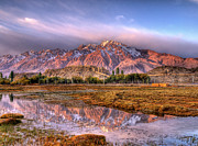 Mountain Range Photos - Pamir Range Reflected In Water Of Icy by Tom Horton, Further To Fly Photography