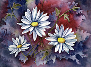 Foliage Paintings - Pampa Daisies by Sam Sidders