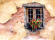 Rustic Paintings - Pampa Window by Sam Sidders