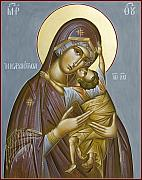 Byzantine Painting Posters - Panagia Kardiotissa II Poster by Julia Bridget Hayes