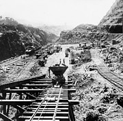 Culebra Photos - Panama Canal - Construction at the Culebra Cut - c 1910 by International  Images