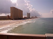Panama City Beach Posters - Panama City Beach from the pier Poster by Andy Kim