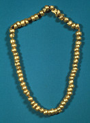 Gold Necklace Metal Prints - PANAMA: GOLD BEADS, c1000 Metal Print by Granger