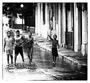 Panama City Framed Prints - Panama Streets Noir Framed Print by John Rizzuto