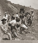Shovels Prints - Panamanian Laborers At Work Print by Everett