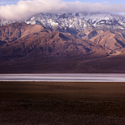 Panamint Valley Posters - Panamint Range And Badwater Basin Poster by joSon