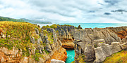 Punakaki Photos - Pancake Rocks by MotHaiBaPhoto Prints
