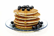 Blueberry Digital Art Prints - Pancakes Print by Glennis Siverson
