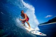 Surf Lifestyle Photo Prints - Pancho Makes The Wave Print by Vince Cavataio - Printscapes