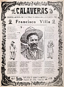 Mexican Revolution Framed Prints - Pancho Villa. Calaveras, Revelation Framed Print by Everett