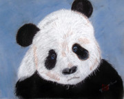 Furry Pastels - Panda by Arlene  Wright-Correll