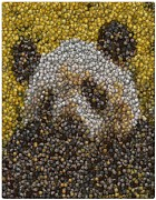 Mosaic Mixed Media - Panda Coin Mosaic by Paul Van Scott